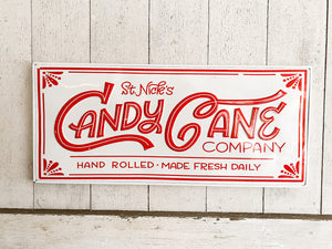 Candy Cane Co. Metal Sign
