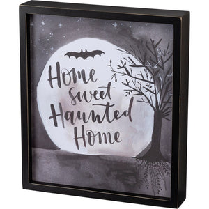 """Home Sweet Haunted Home""- Inset Box Sign"