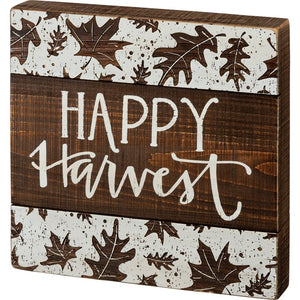 """Happy Harvest""- Box Sign"
