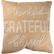 Grateful Thankful Blessed Pillow