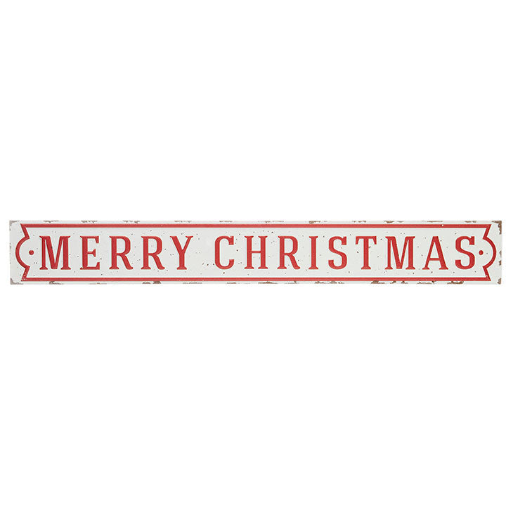 "Vintage ""Merry Christmas"" Metal Sign"