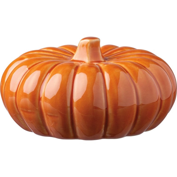 Ceramic Pumpkin Orange