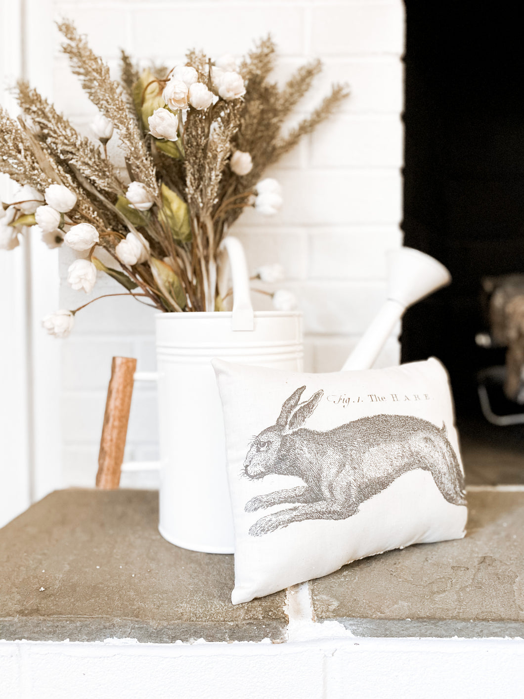 Hare Print Pillow
