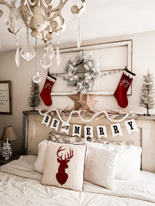BE MERRY Banner- White