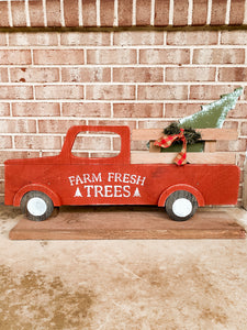 Christmas Tree Truck on Stand