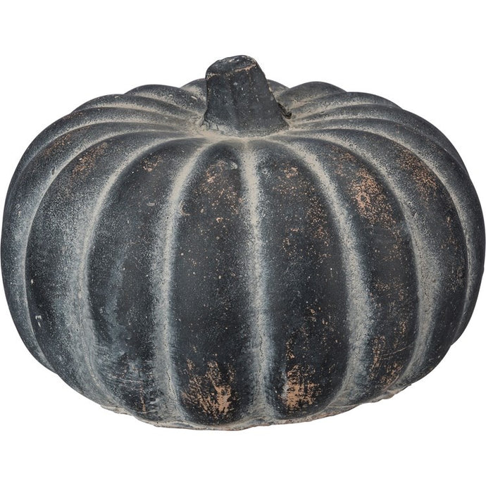 Large Cement Pumpkin (Dark Gray)