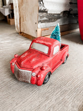 Red Christmas Tree Truck