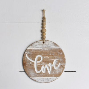 """Love"" Beaded Ornament"