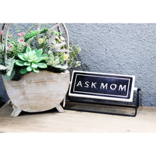 Ask Mom/Dad Swivel Sign