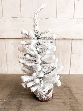 "12"" Flocked Tree on Base"