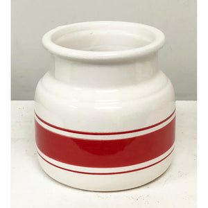 Red Striped Porcelain Vase