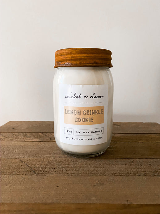 Lemon Crinkle Cookie- Soy Candle