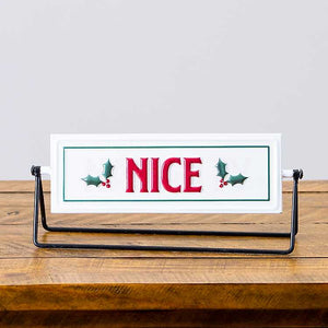 Naughty + Nice Swivel Sign