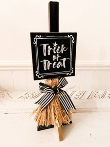 Trick or Treat Broom Stand