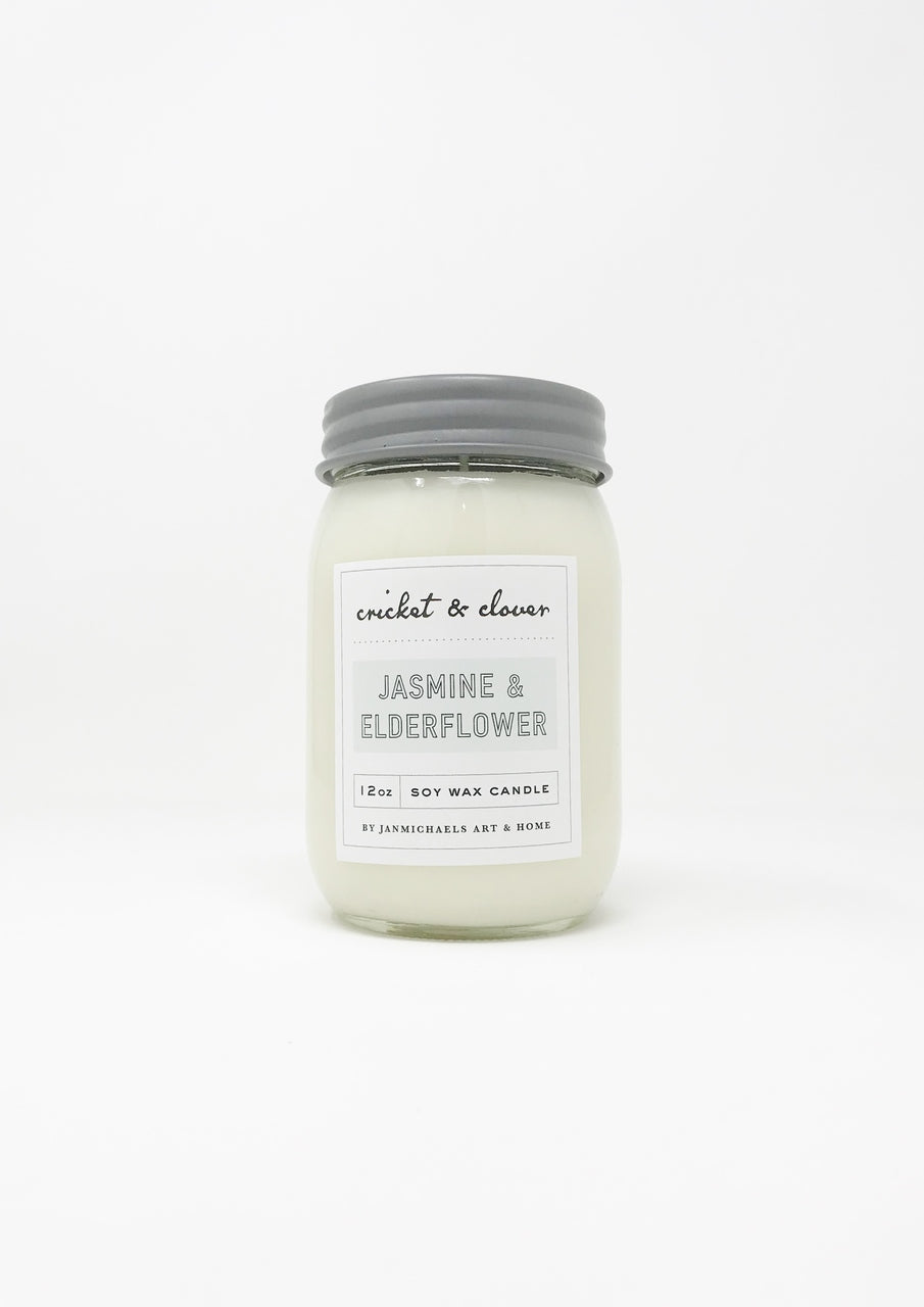 Jasmine and Elderflower- Soy Candle