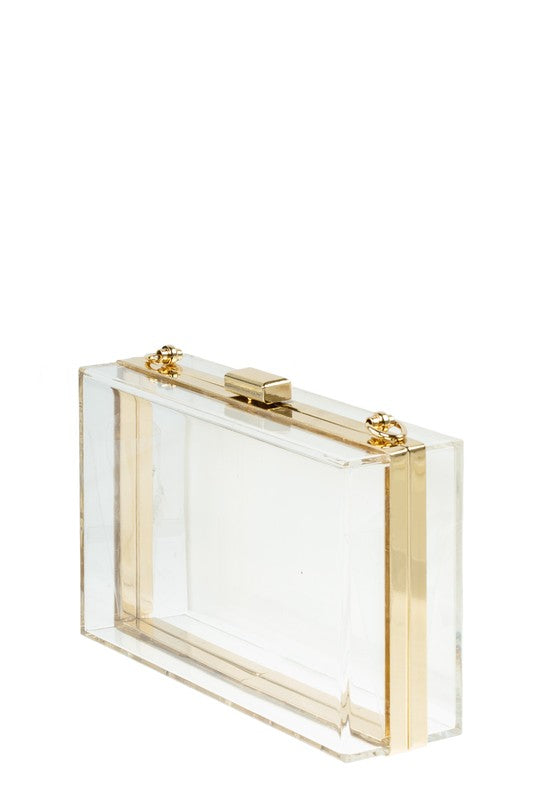 Stacy Clear Clutch