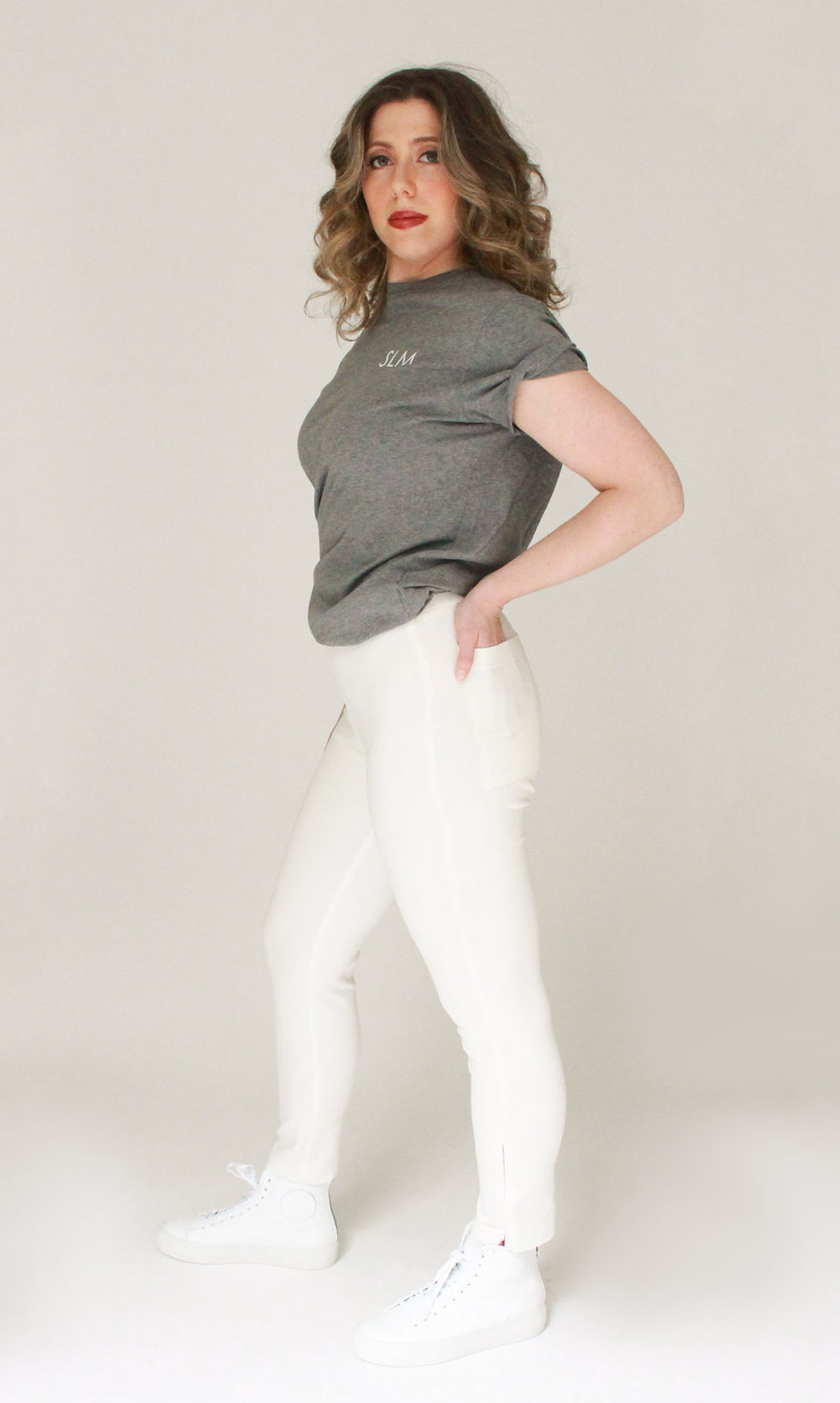 POP Ivory Zip Crop