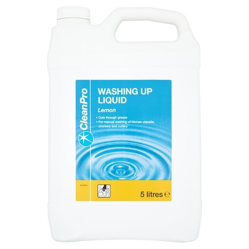 Clean Pro Washing Up Liquid Lemon - 5 Litre Bulk Bottle