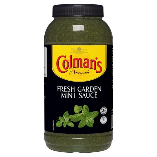 Colman's of Norwich Fresh Garden Mint Sauce 2.25 Litre Bulk Jar