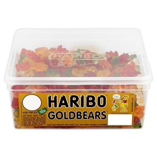Haribo Gold Bears Jelly Sweets - Tub of 600 Pieces