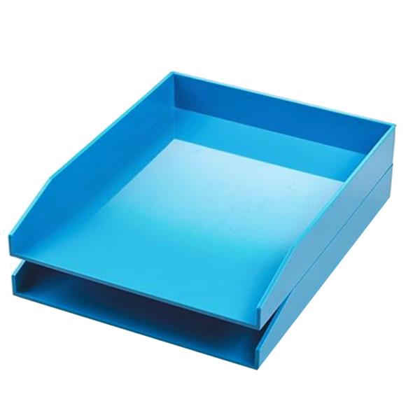 Avery ColorStak Letter Tray Blue [Pack 2]