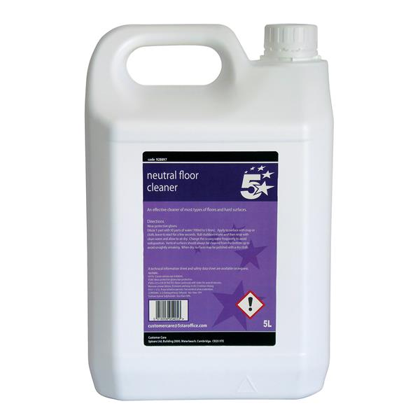 5 Star Facilities Neutral Floor Cleaner 5 Litre Bulk Bottle