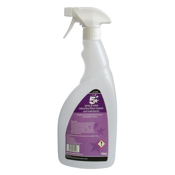 5 Star Facilities Empty Bottle for Concentrated Odourless Floor Cleaner 750ml