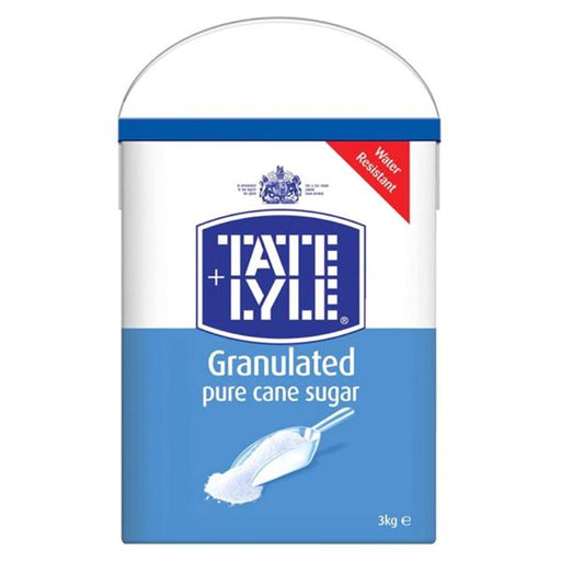Tate & Lyle Pure Cane Sugar White Granulated Drum with Handle 3kg Ref 410144