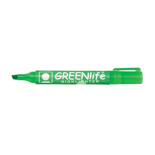 5 Star Eco Highlighter 1-5mm Line Green [Pack 10]