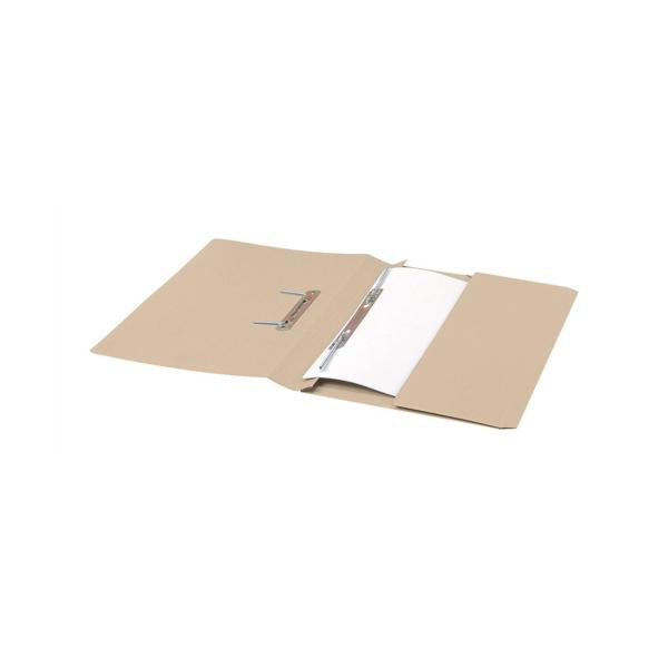 5 Star Elite Transfer Spring Pocket File Heavyweight 315gsm Capacity 38mm Foolscap Buff [Pack 25]