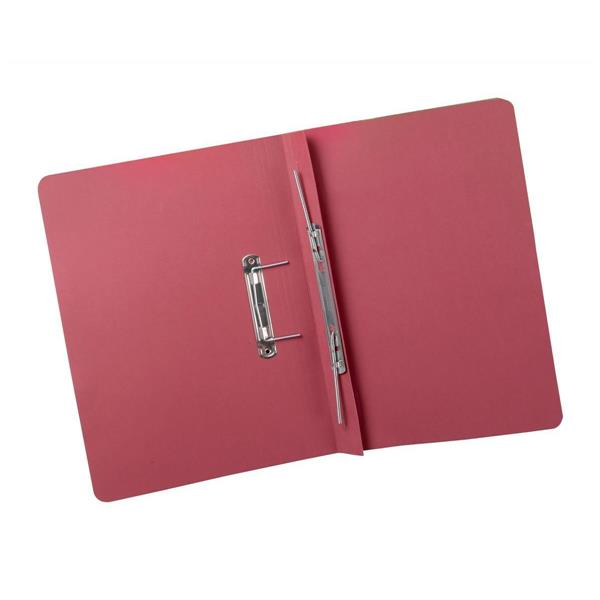 5 Star Elite Transfer Spring File Heavyweight 380gsm Capacity 38mm Foolscap Red [Pack 25]