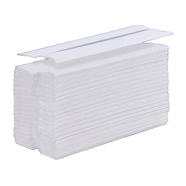 5 Star Facilities Hand Towel C-Fold One-Ply Recycled Size 230x310mm 200 Towels Per Sleeve White [Pack 12]
