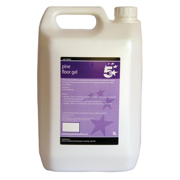 5 Star Facilities Pine Floor Gel 5 Litre Bulk Bottle