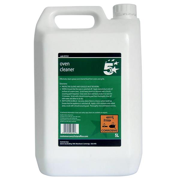 5 Star Facilities Heavy-duty Oven Cleaner 5 Litre Bulk Bottle