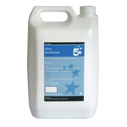 5 Star Facilities Concentrated Citrus Disinfectant - Bulk 5 Litre Bottle