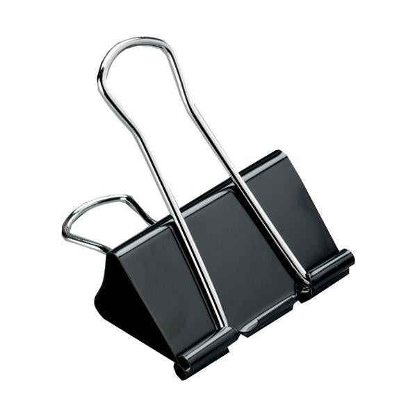 5 Star Office Foldback Clips 25mm Black [Pack 12]