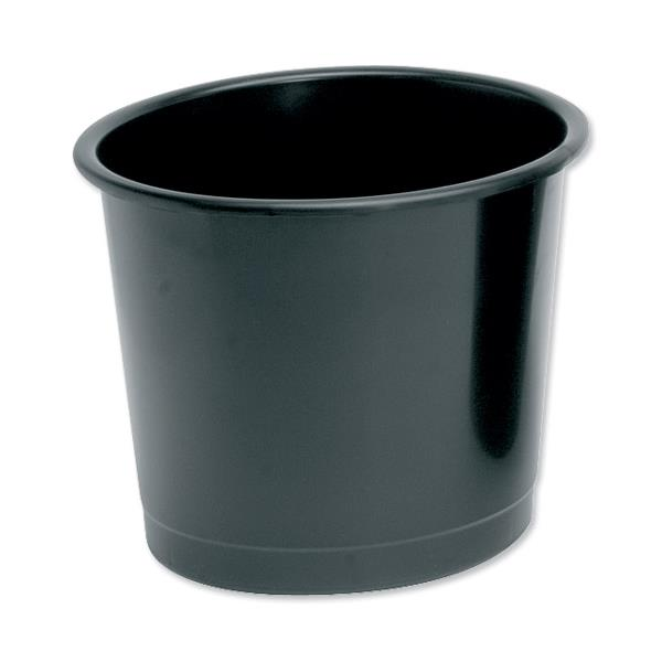 5 Star Office Waste Bin Polypropylene 14 Litres D304xH254mm Black