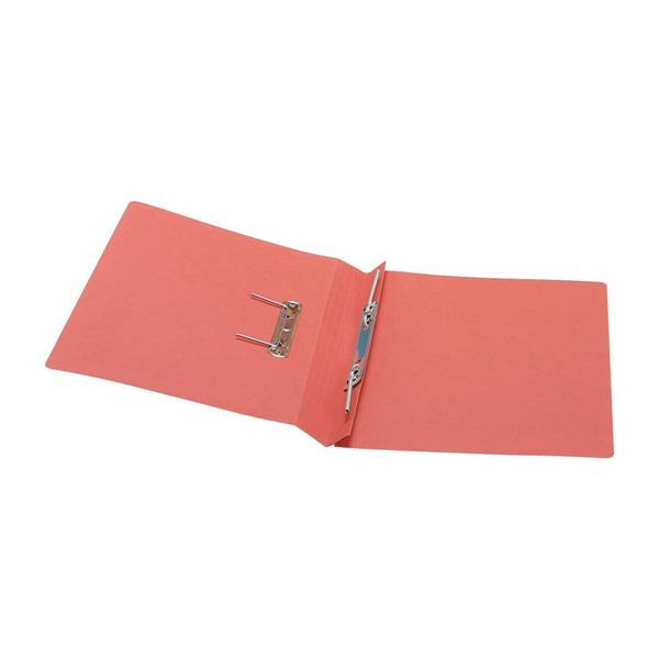 5 Star Office Transfer Spring File Recycled 285gsm Capacity 38mm Foolscap Red [Pack 50]