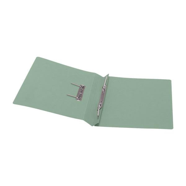 5 Star Office Transfer Spring File Recycled 285gsm Capacity 38mm Foolscap Green [Pack 50]