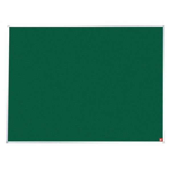 5 Star Office Felt Noticeboard with Fixings and Aluminium Trim W1800xH1200mm Green