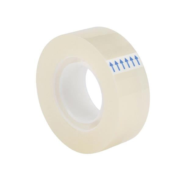 5 Star Office Clear Tape Roll Small Easy-tear Polypropylene 40 Microns 19mm x 33m [Pack 8]