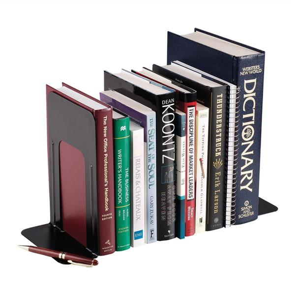 5 Star Office Bookends Large Metal Black [Pack 2]