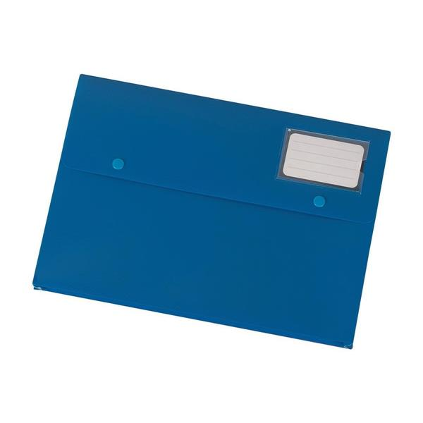 5 Star Office Document Wallet with Card Holder Polypropylene A4 Blue [Pack 3]