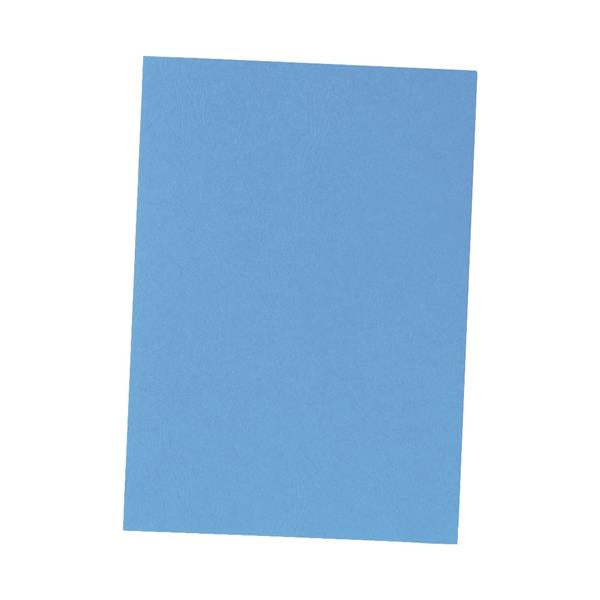 5 Star Office Binding Covers 240gsm Leathergrain A4 Blue [Pack 100]