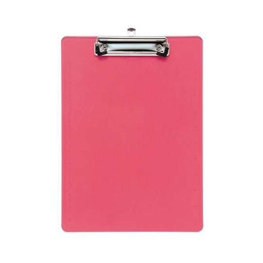 5 Star Office Clipboard Solid Plastic Durable with Rounded Corners A4 Pink
