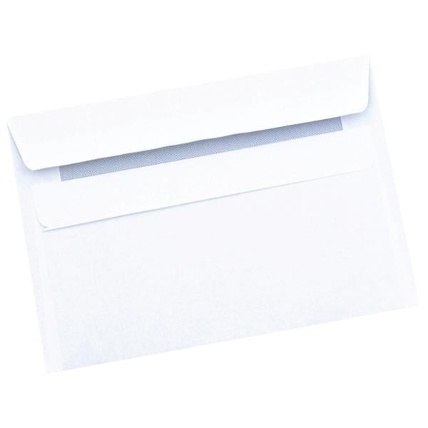 5 Star Office Envelopes Recycled Wallet Self Seal 80gsm Retail Pack White C6 [Pack 50]