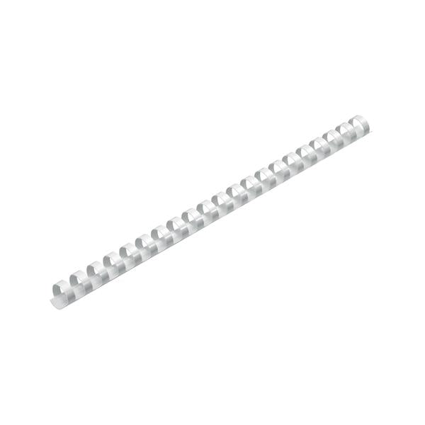 5 Star Office Binding Combs Plastic 21 Ring 125 Sheets A4 16mm White [Pack 100]