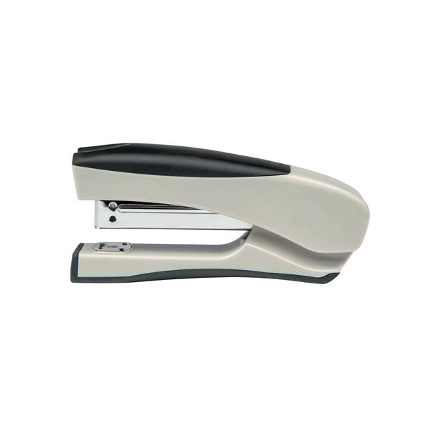 5 Star Office Half Strip Stand Up Stapler 20 Sheet Capacity Takes 26/6 and 24/6 Staples Silver/Black