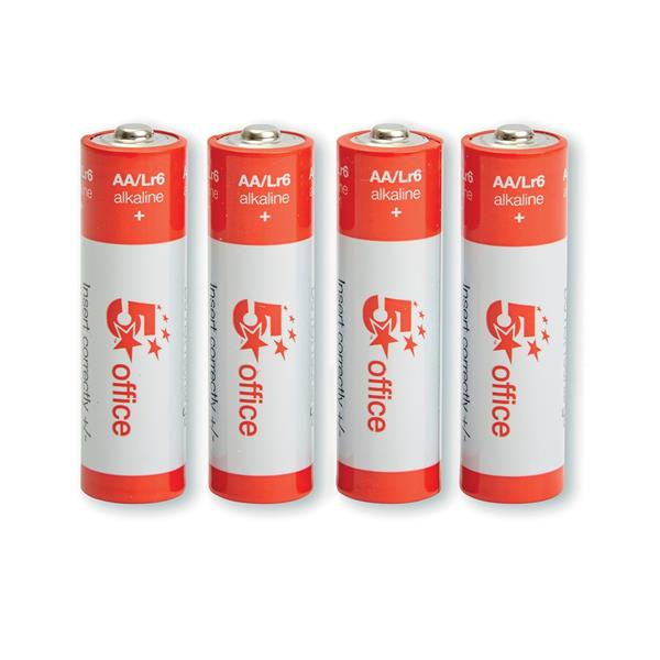 5 Star Office Batteries AA [Pack 4]
