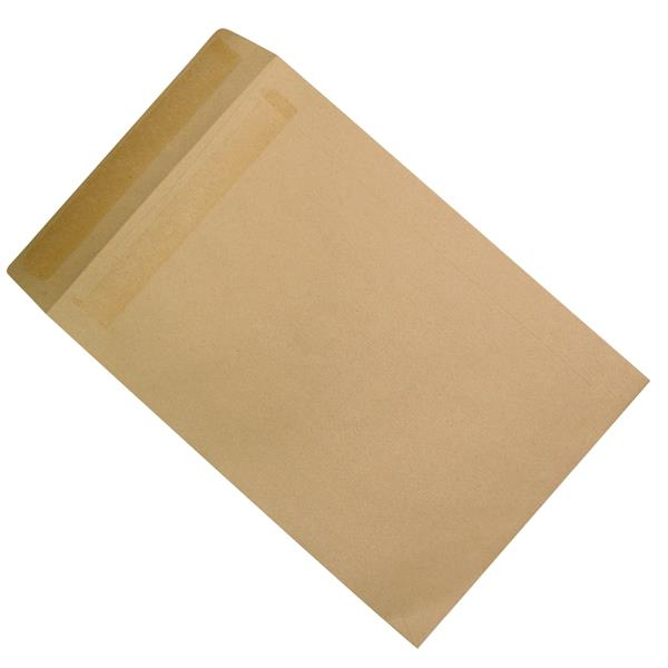 5 Star Office Envelopes Recycled Heavyweight Pocket Self Seal 115gsm Manilla 381x254mm [Pack 250]